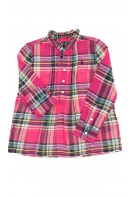 Bluzka dziewczęca w kolorową kratę, Polo Ralph Lauren