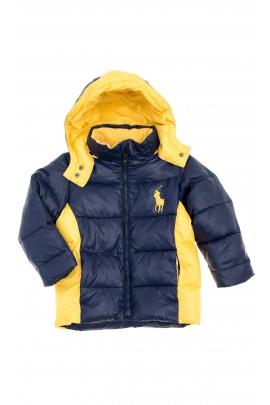 Granatowo-żółta kurtka chłopięca, Polo Ralph Lauren
