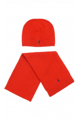 Czerwona wełniana czapka przejściowa, Polo Ralph Lauren