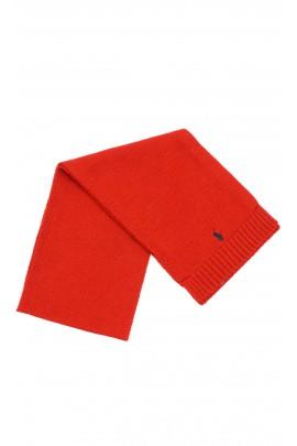 Czerwony szalik wełniany, Polo Ralph Lauren
