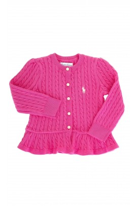 Różowy rozpinany sweterek, Polo Ralph Lauren