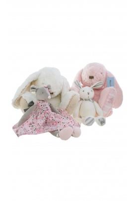 Różowa maskotka królik,  Tartine et Chocolat
