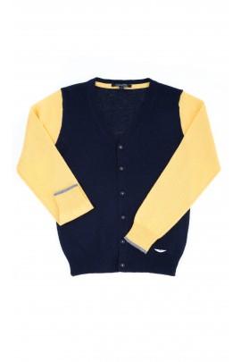 Żółto-granatowy rozpinany sweter, Aston Martin