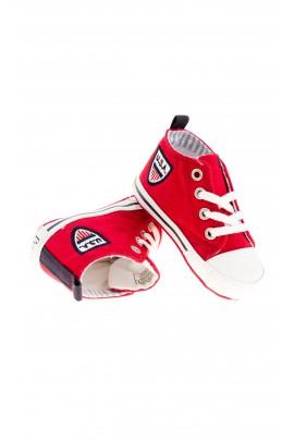 Czerwone trampeczki niemowlęce, Polo Ralph Lauren