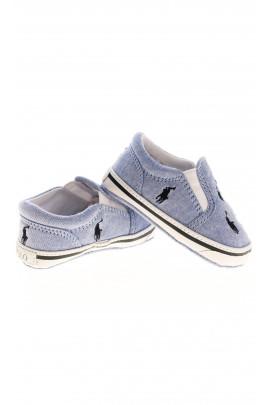 Niebieskie trampki niemowlęce, Polo Ralph Lauren