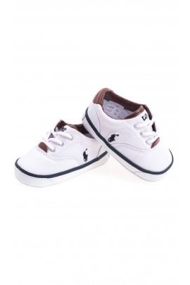 Białe buciki niemowlęce, Polo Ralph Lauren