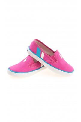 Różowe tenisówki dziewczęce, Polo Ralph Lauren