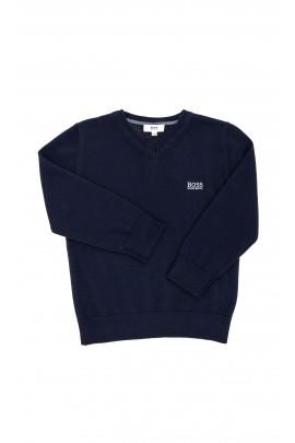 Granatowy sweter chłopięcy, Hugo Boss