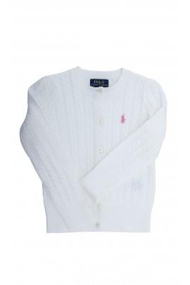 Biały sweter dziewczęcy, Polo Ralph Lauren