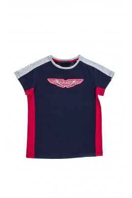 T-shirt granatowy, Aston Martin