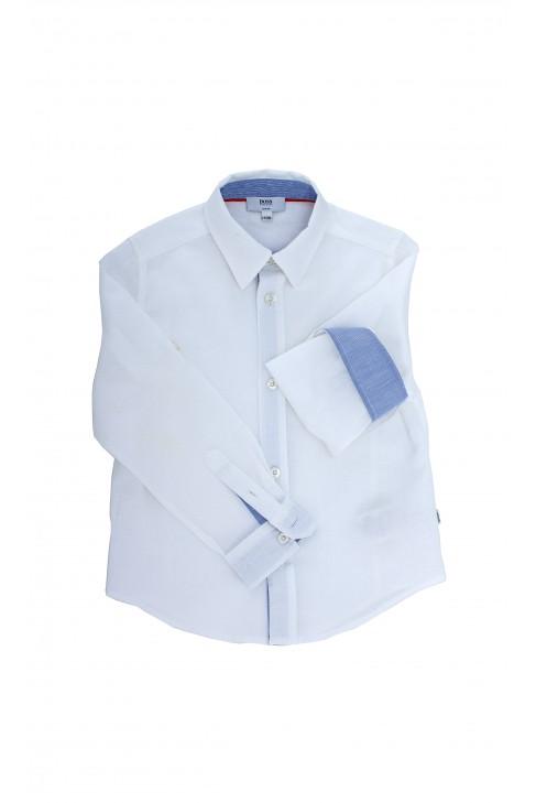Biała koszula chłopięca, Hugo Boss
