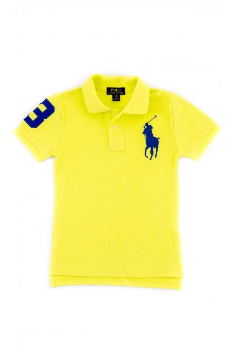Żółte neonowe chłopięce polo, Polo Ralph Lauren