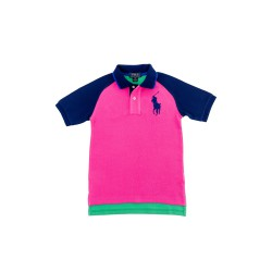 Boy's pink-and-green polo shirt, Polo Ralph Lauren