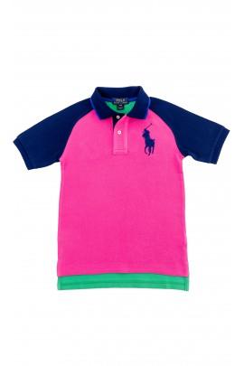 Różowo- zielone polo chłopięce, Polo Ralph Lauren
