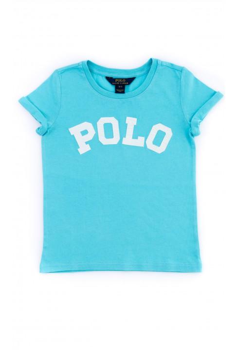 Niebieski t-shirt dziewczęcy, Polo Ralph Lauren