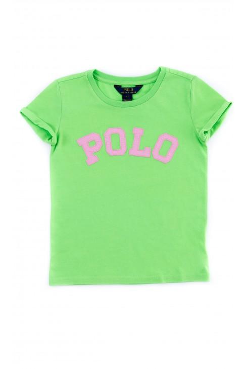 Zielony t-shirt dziewczęcy, Polo Ralph Lauren