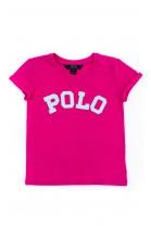 Różowy t-shirt dziewczęcy, Polo Ralph Lauren