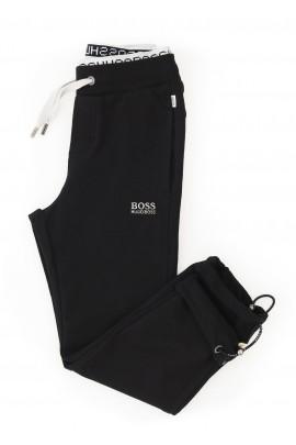 Czarne dresowe  spodnie chłopięce, Hugo Boss