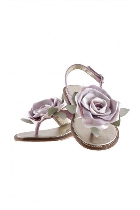 Sandały z nubuku różowe, Monnalisa