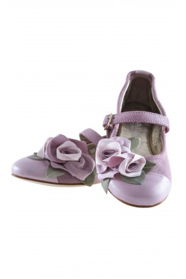 Pantofelki różowe, zapięcie na pasek, Monnalisa