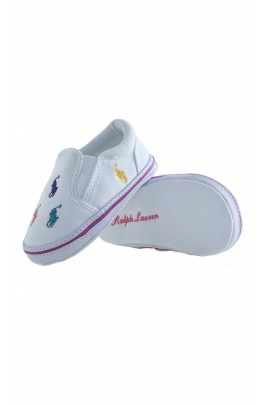 Buciki niemowlęce białe, Ralph Lauren