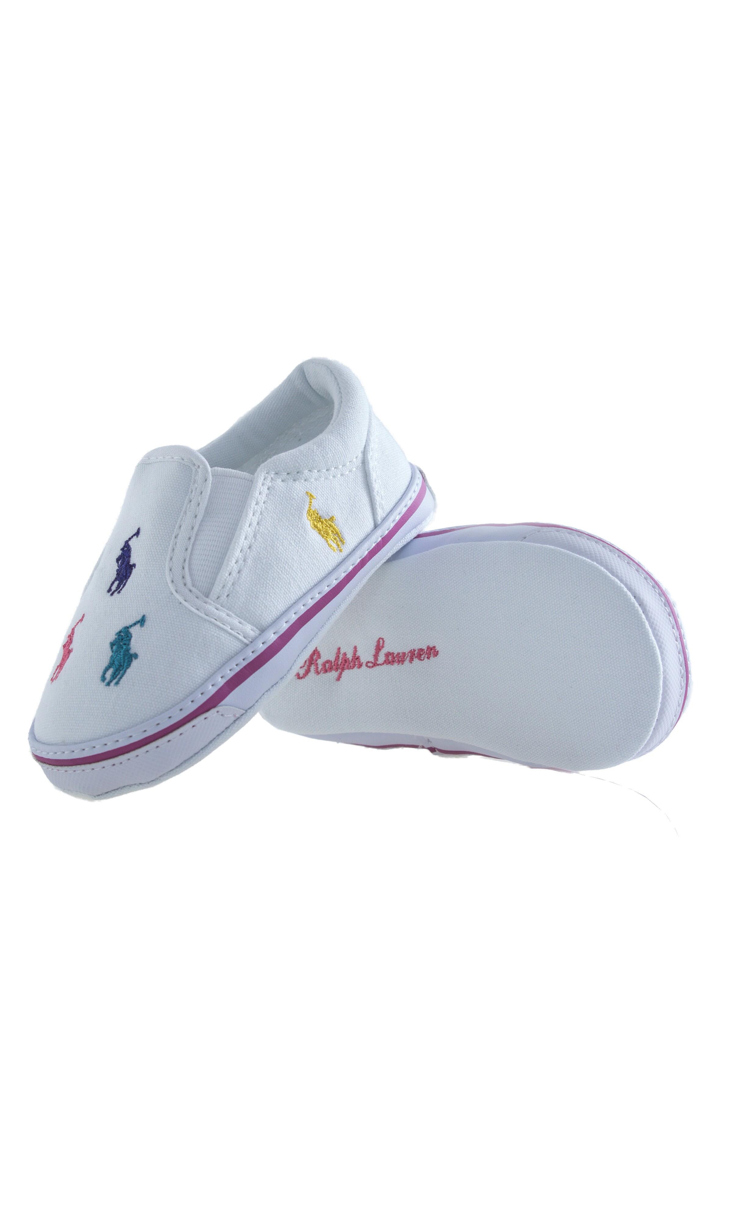 White baby shoes Ralph Lauren Celebrity Club