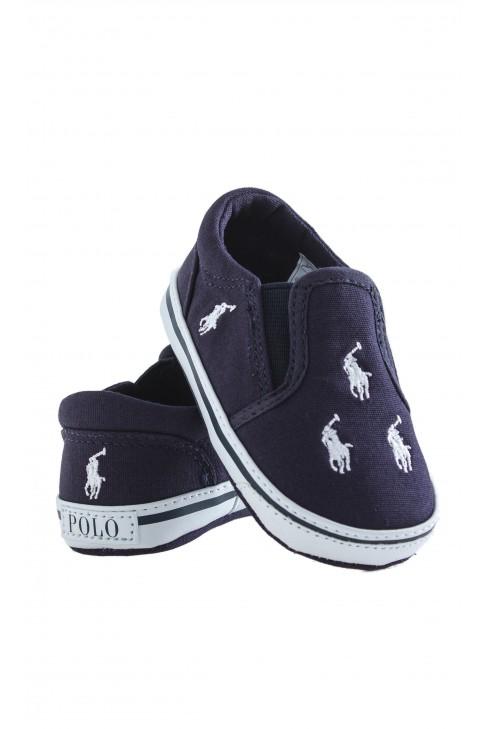 Granatowe buciki niemowlęce, Ralph Lauren