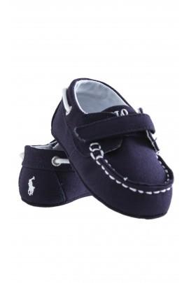 Granatowe płócienne mokasynki niemowlęce, Ralph Lauren