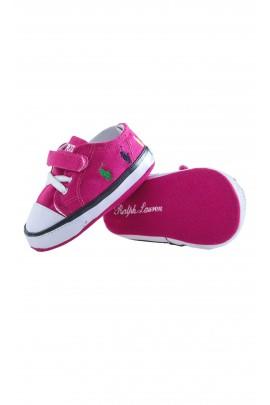 Różowe niemowlęce trampeczki, Ralph Lauren