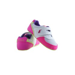 White-and-pink baby shoes, Ralph Lauren
