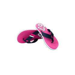 Pink flip-flops in navy blue stripes, Polo Ralph Lauren