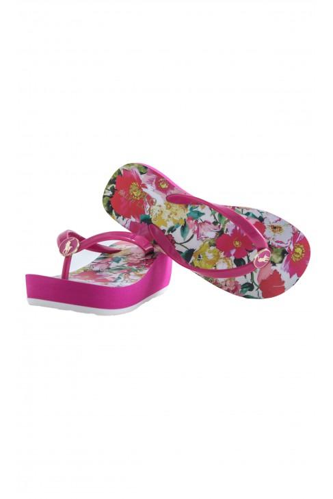 Pink wedge-heeled flip-flops, Polo Ralph Lauren