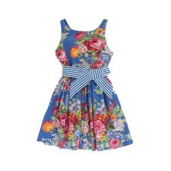 Flowered blue dress, Polo Ralph Lauren