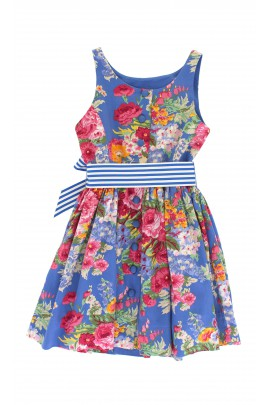 Niebieska sukienka w kwiaty, Polo Ralph Lauren