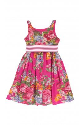 Różowa sukienka w kwiaty, Polo Ralph Lauren
