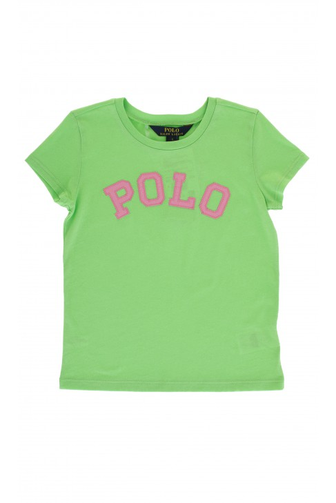 Green T-shirt with POLO inscription, Polo Ralph Lauren