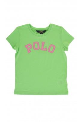 Zielony t-shirt z napisem POLO, Polo Ralph Lauren