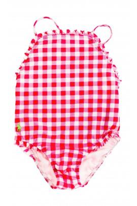 Różowy w kratkę strój kąpielowy, Polo Ralph Lauren