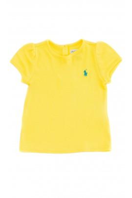 Żółty t-shirt dziewczęcy, Polo Ralph Lauren