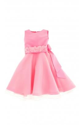 Różowa, pełny klosz, sukienka, Ferrari Mariella