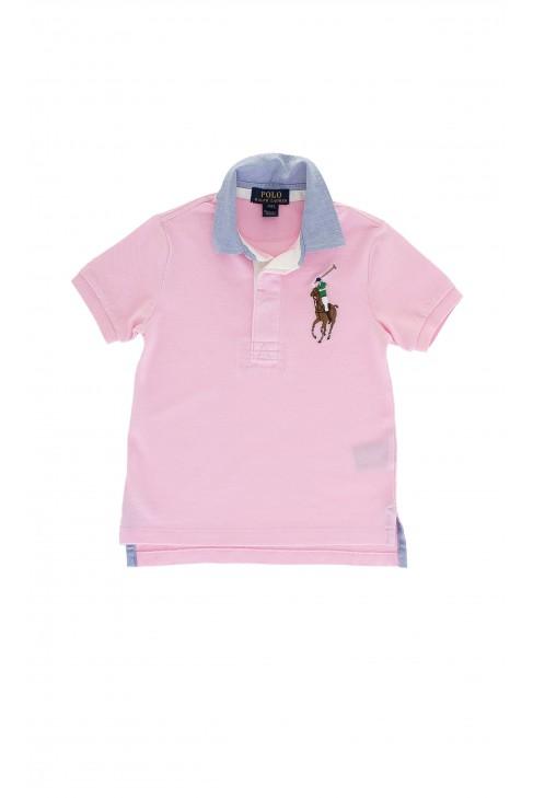 Różowe chłopięce polo, Polo Ralph Lauren