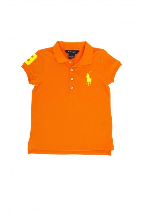 Pomarańczowe polo dziewczęce, Polo Ralph Lauren