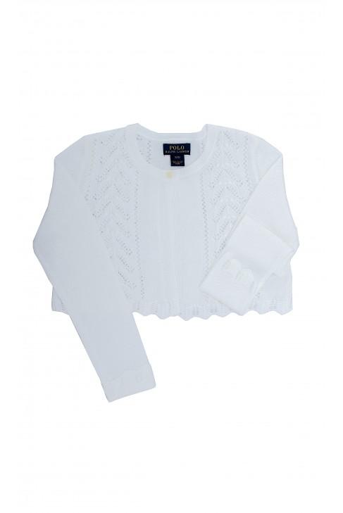 Białe ażurowe bolerko, Polo Ralph Lauren