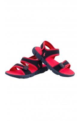 Granatowo-czerwone sandałki, Polo Ralph Lauren