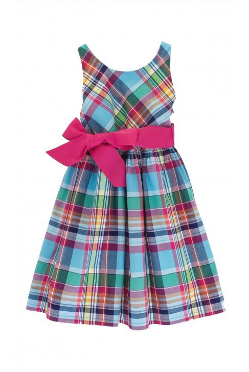 Sukienka w kolorową kratkę, Polo Ralph Lauren