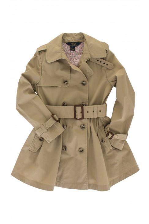 Khaki  płaszcz dziewczęcy, Polo Ralph Lauren