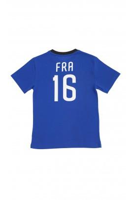 Niebieski t-shirt z napisem FRANCE, Polo Ralph Lauren