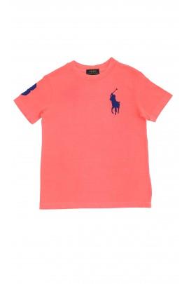 Koralowy t-shirt, Polo Ralph Lauren