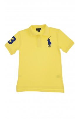 Żółte polo z szafirowym konikiem, Polo Ralph Lauren