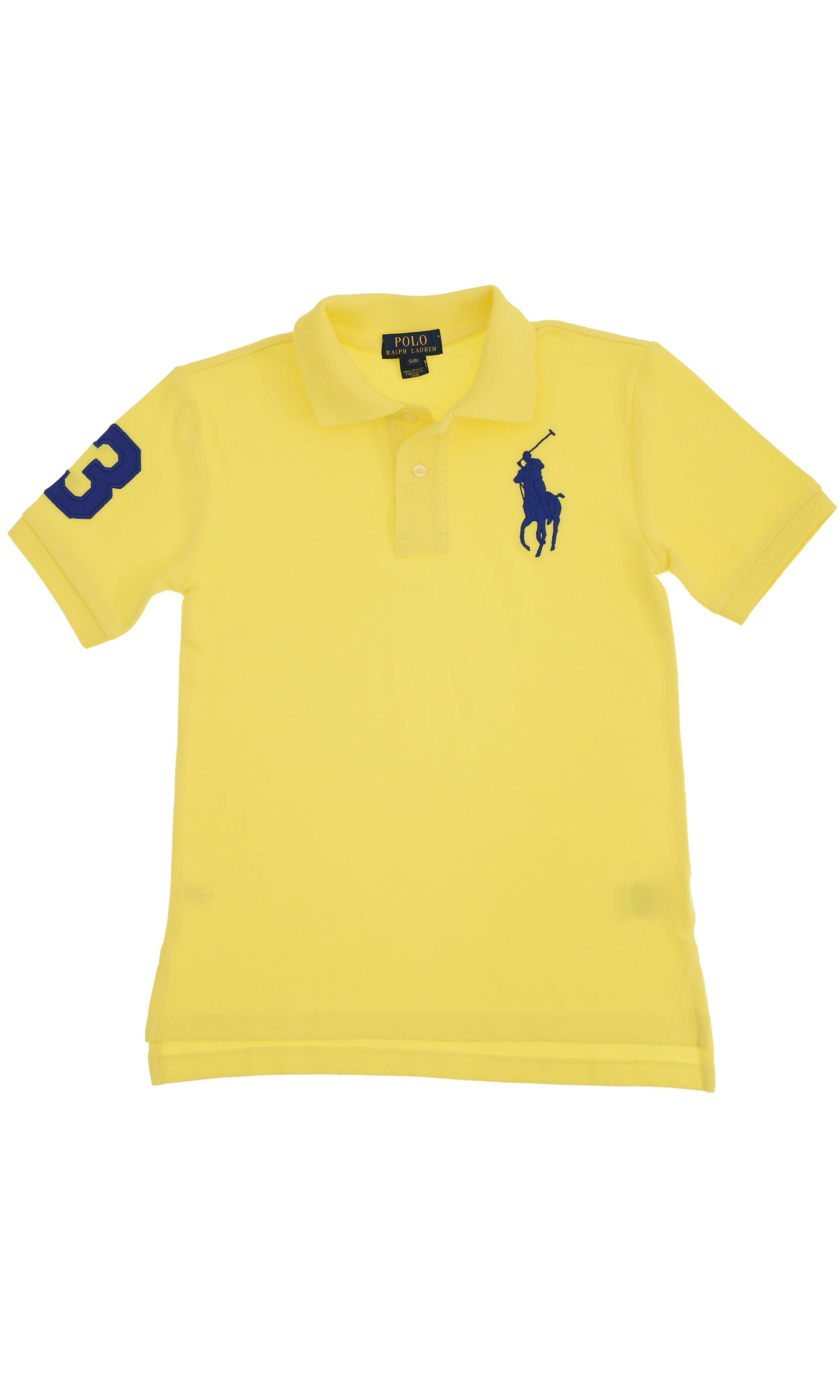 Yellow Polo Shirt With A Sapphire Horse Polo Ralph Lauren
